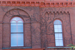 Arched windows, red brick court house building, Keene, New Hamps Royalty Free Stock Photo