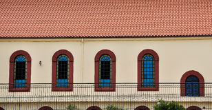 Arched windows and roof Stock Image
