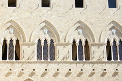 Arched windows in Sienna Italy Stock Photos