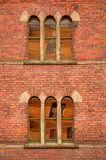 Arched windows in a Victorian building Stock Photography