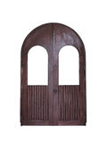 Arched wood door isolation Royalty Free Stock Images