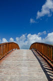 Arched Wooden Bridge Stock Photos