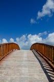Arched Wooden Bridge Stock Photos