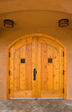 Arched wooden doorway Royalty Free Stock Photography
