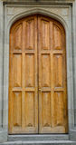 Arched wooden doorway Royalty Free Stock Images