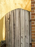 Arched Wooden Gate Royalty Free Stock Images
