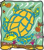archelon χελώνα δεινοσαύρων Στοκ Εικόνες