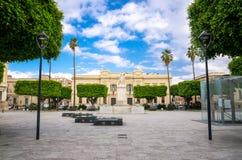 Archeologic Area Ipogea Piazza Italia square Reggio di Calabria, royalty free stock photography