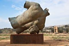 archeological άγαλμα περιοχής του Agrigento Στοκ Φωτογραφία