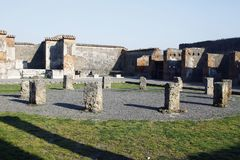 Archeological καταστροφές της Πομπηίας Στοκ εικόνα με δικαίωμα ελεύθερης χρήσης