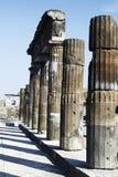 Archeological καταστροφές της Πομπηίας Στοκ Εικόνα