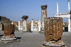 Archeological καταστροφές της Πομπηίας Στοκ Εικόνες