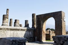 Archeological καταστροφές της Πομπηίας Στοκ φωτογραφίες με δικαίωμα ελεύθερης χρήσης