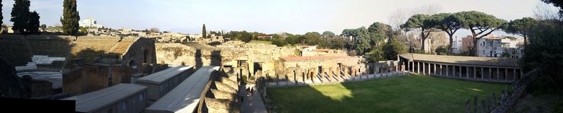 Archeological καταστροφές της Πομπηίας Στοκ εικόνες με δικαίωμα ελεύθερης χρήσης