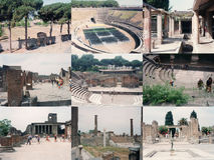 Archeological περιοχή της Πομπηίας στην Πομπηία Στοκ φωτογραφία με δικαίωμα ελεύθερης χρήσης