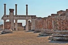 Archeological περιοχή της Πομπηίας Στοκ Εικόνα