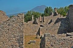 Archeological περιοχή της Πομπηίας Στοκ Φωτογραφία