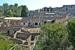 Archeological περιοχή της Πομπηίας Στοκ εικόνα με δικαίωμα ελεύθερης χρήσης