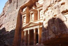 Archeological περιοχή της Petra - Υπουργείο Οικονομικών στοκ φωτογραφία με δικαίωμα ελεύθερης χρήσης