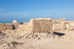 Archeological περιοχή Al Zubara στο δρόμο corniche Doha Στοκ Φωτογραφία