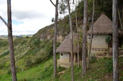 Archeological περιοχή Kuelap και προ-Inca φρούριο, Chachapoyas, AM Στοκ φωτογραφία με δικαίωμα ελεύθερης χρήσης