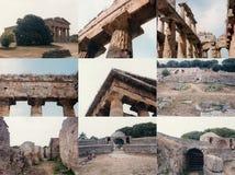 Archeological περιοχή Paestum σε Paestum Στοκ φωτογραφίες με δικαίωμα ελεύθερης χρήσης