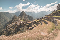 Archeological περιοχή Picchu Machu, Στοκ φωτογραφία με δικαίωμα ελεύθερης χρήσης