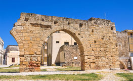 Archeological area of Brindisi.Puglia. Italy. Stock Photo