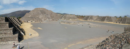 archeological aztec teotihuacan mexico lokal Royaltyfria Bilder
