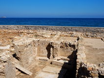 Archeological Dig Site In Heraklion Crete Stock Image