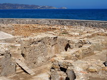 Archeological Dig Site In Heraklion Crete Stock Images