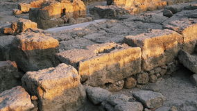 Archeological Dig Site. Archeological Dig Site in Paphos, Cyprus stock video