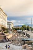 Archeological ekskawacje w centrum miasto Sofia, Bułgaria obraz stock