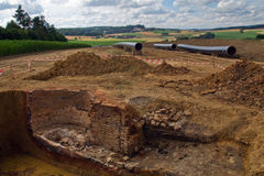 Archeological excavation Stock Photography