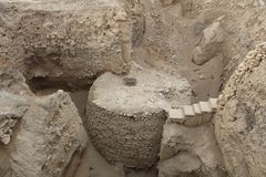 Archeological Excavation in Jericho Royalty Free Stock Photos
