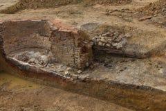 Archeological excavation Stock Image