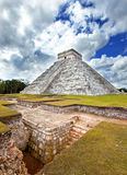 Archeological excavations near Kukulkan Pyramid in Chichen Itza on the Yucatan, Mexico Stock Image