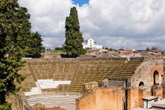 Archeological excavations of Pompeii, Italy Royalty Free Stock Photos