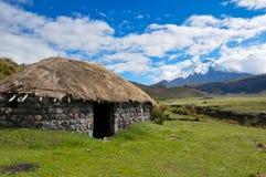 Archeological Indian Hut in Cotopaxi National Park, Ecuador Stock Image