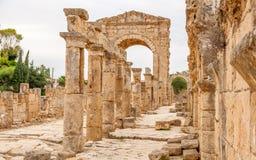 archeological lebanon lokaldäck Arkivbild