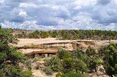 Archeological miejsca usa - mesy Verde park narodowy - zdjęcie stock