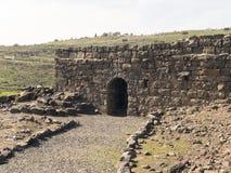 Archeological miejsce biblijny miasto Korazim w Izrael obrazy royalty free