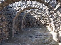 Archeological miejsce biblijny miasto Korazim w Izrael fotografia stock