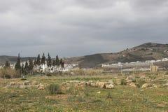 Archeological miejsce na zewnątrz Tetouan, miasto w Maroko, afryce pólnocnej/ Zdjęcia Stock