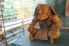 Archeological Museum artifact. Azteca sculpture in Archeological Museum in Copalita Park in Mexico Stock Photos