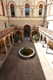 Archeological Museum in Bologna. Image of the interior courtyard of the Archeological Museum in Bologna, one of the city's best museums royalty free stock images