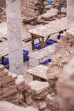 Archeological Reconstruction Work Royalty Free Stock Photos