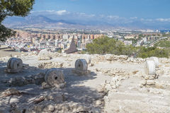 Archeological remains in the castle Royalty Free Stock Photos
