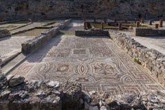Roman ruins in Conímbriga. Archeological remains of Roman city of Conímbriga in Portugal Stock Photography