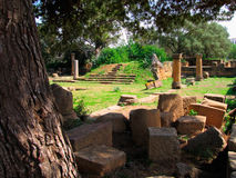 Archeological roman site of  Tipasa Stock Photos
